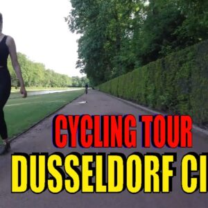 🌎 [4K] Cycling in Düsseldorf City.  Benrath Palace . Cycling Tour in Germany.