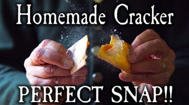 Crispiest Homemade Crackers From the 1700's!