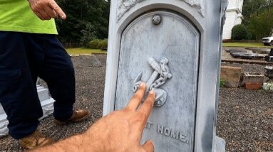 RARE GRAVE STONES FOUND IN 177 YEAR OLD GRAVEYARD (PART 1)